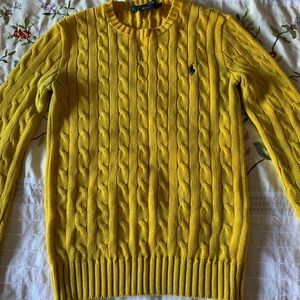 Ralph Lauren Polo Yellow Cable Knit Sweater